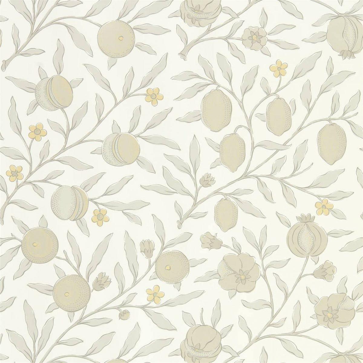 Morris & Co Tapet Pure Fruit Horned Poppy / Grey