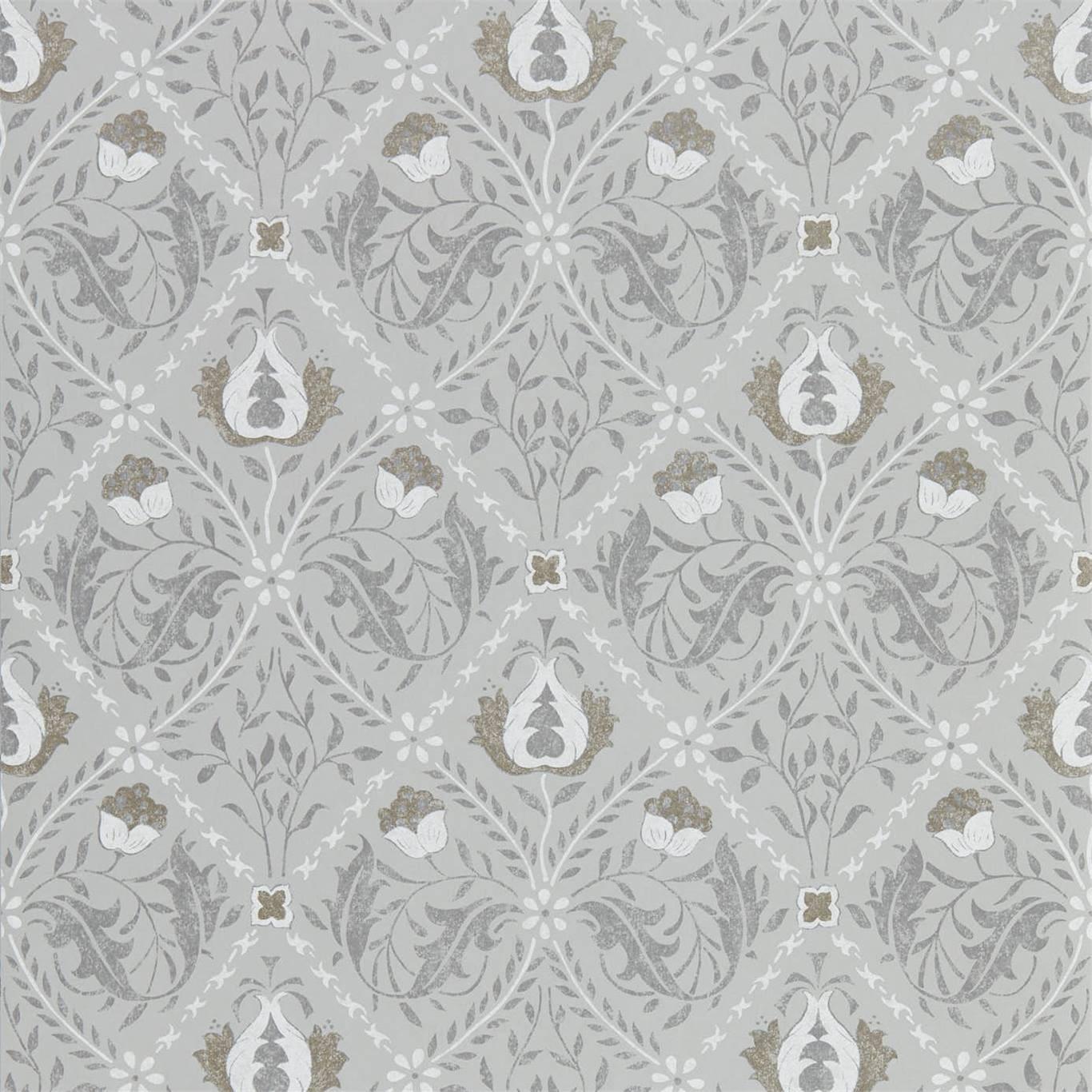 Morris & Co Tapet Pure Trellis Lightish Grey
