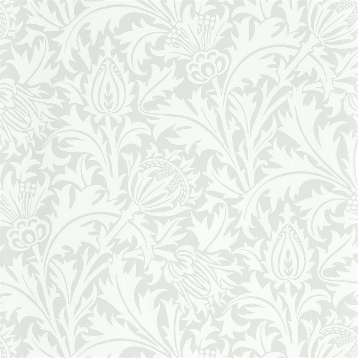 Morris & Co Tapet Pure Thistle Grey Blue