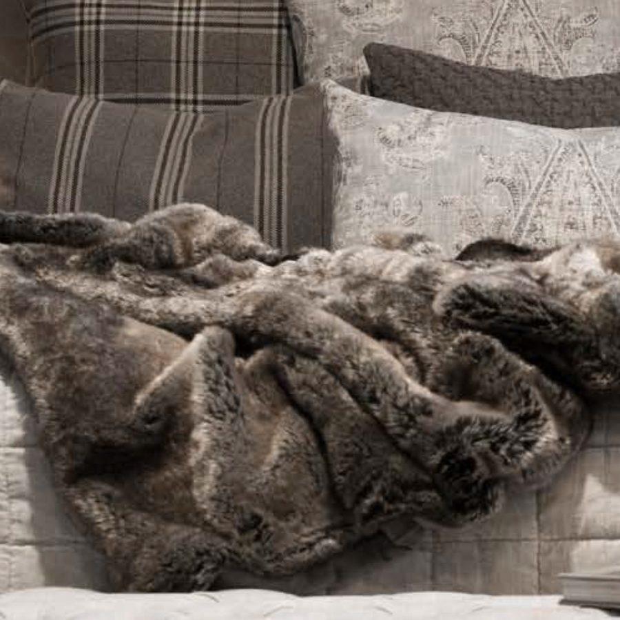 Artwood Överkast Pälspläd fuskpäls Bear grå melange