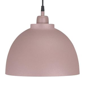 Taklampa Industrilampa dimrosa rosa