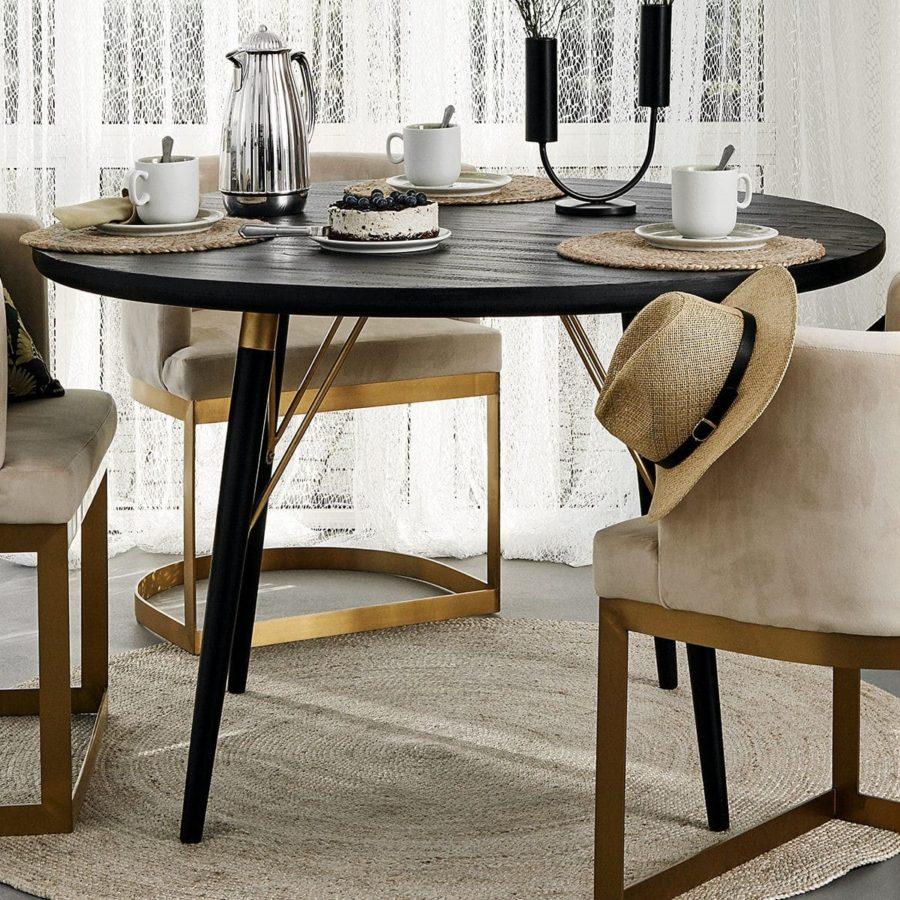 Nordal Matbord runt svart