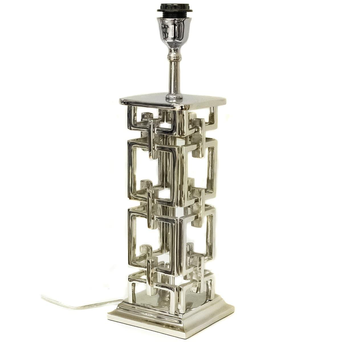 THG Lampfot Art Deco Silver