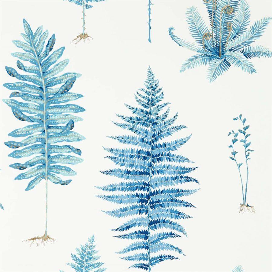 Sanderson Tapet Fernery Botanical China Blue