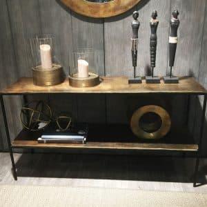 Artwood Avlastningsbord Golvhylla Mille Vintage Brass