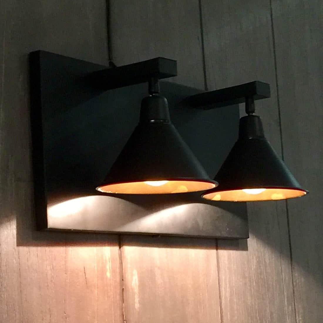 Artwood Vägglampa Anzio Dubbel svart metall