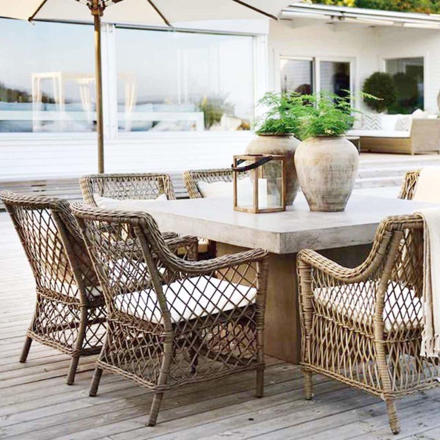 Artwood Karmstol Matbordsstol Konstrotting Marbella inkl. dynor