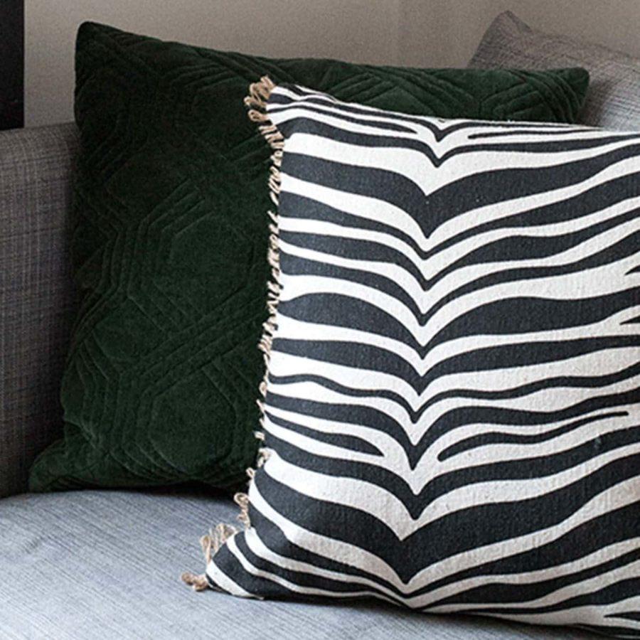 Classic Collection Kuddfodral Zebra svart vitt