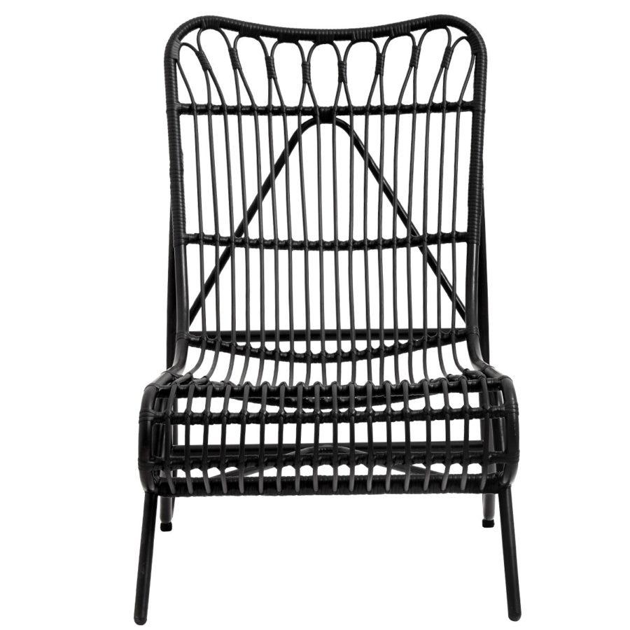 Nordal svart rottingstol loungestol rotting