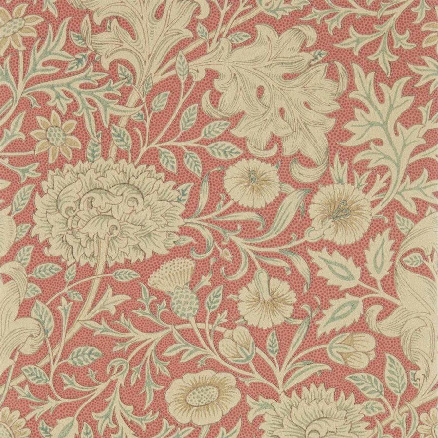 William Morris & Co Tapet Double Bough Carmine Red