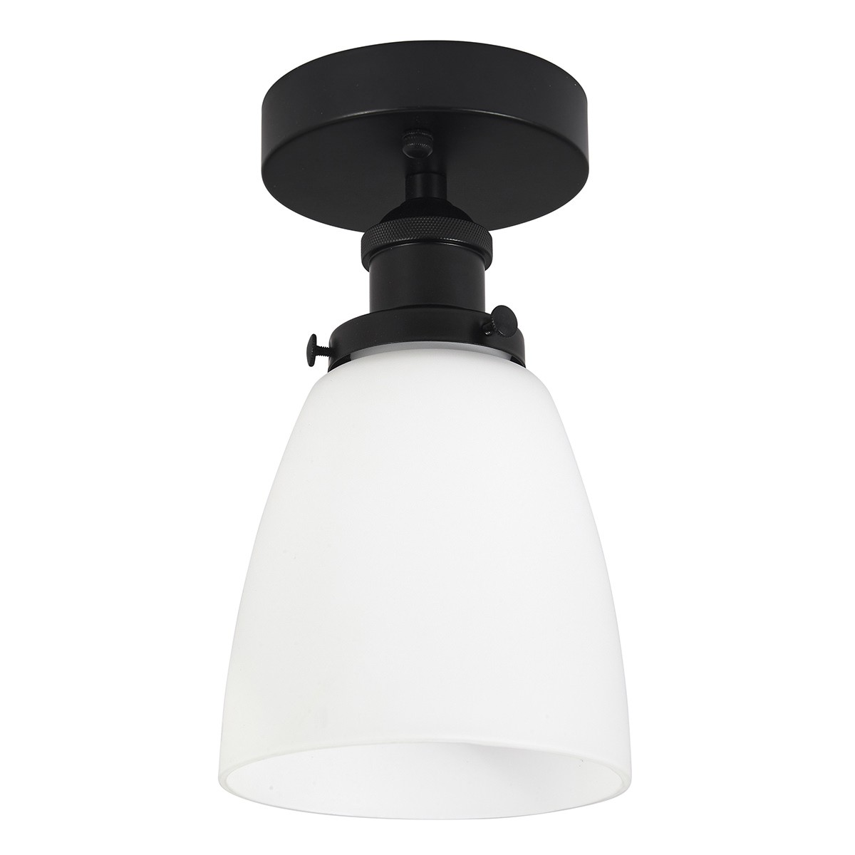 Taklampa / Badrumslampa Lyon Opal Glas