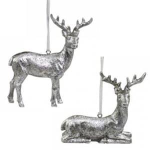 Juldekoration Ren Silver hänge