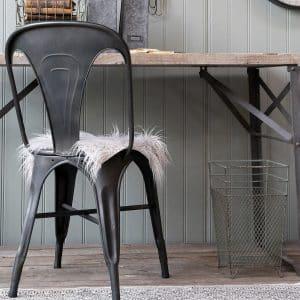 Matbordsstol Factory svart metall industristil