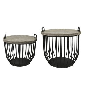 Satsbord trä metall svart fransk lantstil