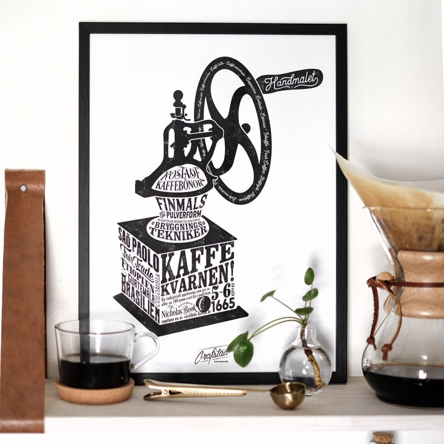 Grafstad Designbyrå Poster Kaffekvarnen