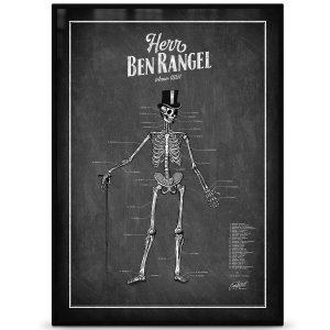 Grafstad Designbyrå Poster Herr Ben Rangel skelett svart