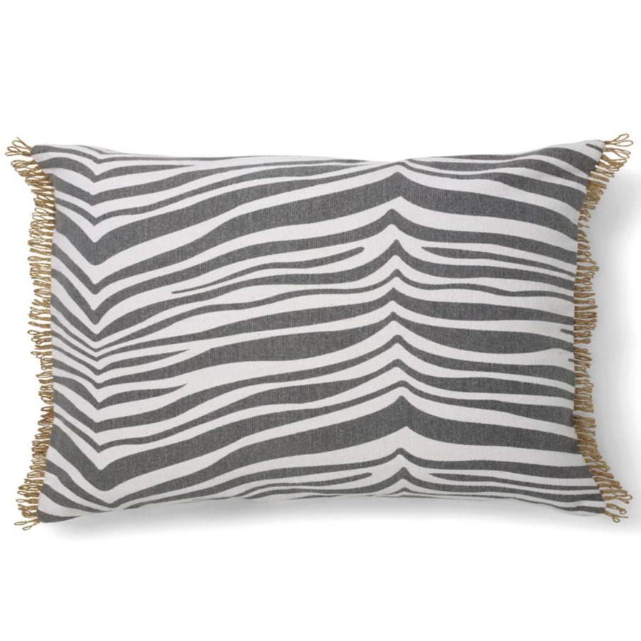 Classic Collection Avlångt Kuddfodral Zebra Titanium grå