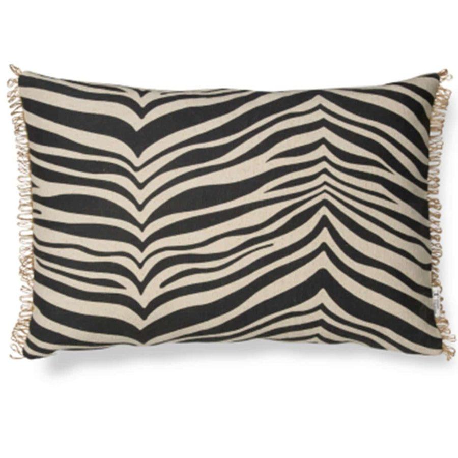 Classic Collection Avlångt Kuddfodral Zebra Svart