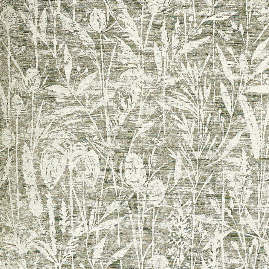 Sanderson Tyg Violet Grasses Moss botaniskt tyg