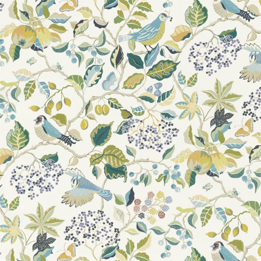 Sanderson Tyg Birds and Berries southwold blue