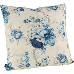 Artwood Kuddfodral blommigt blått rosor lantlig inredning