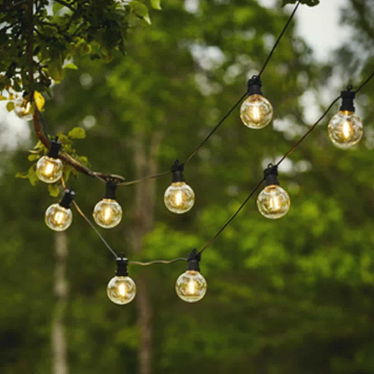 Ljusslinga Partyslinga utomhus 10 bollar
