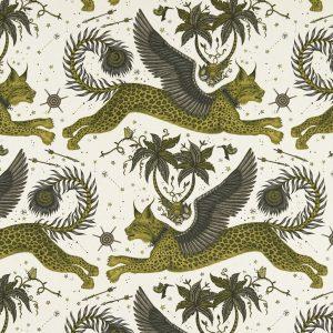 Emma J Shipley Tyg Lynx Gold Linen
