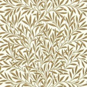 William Morris tapet Willow Bough Cream Brown
