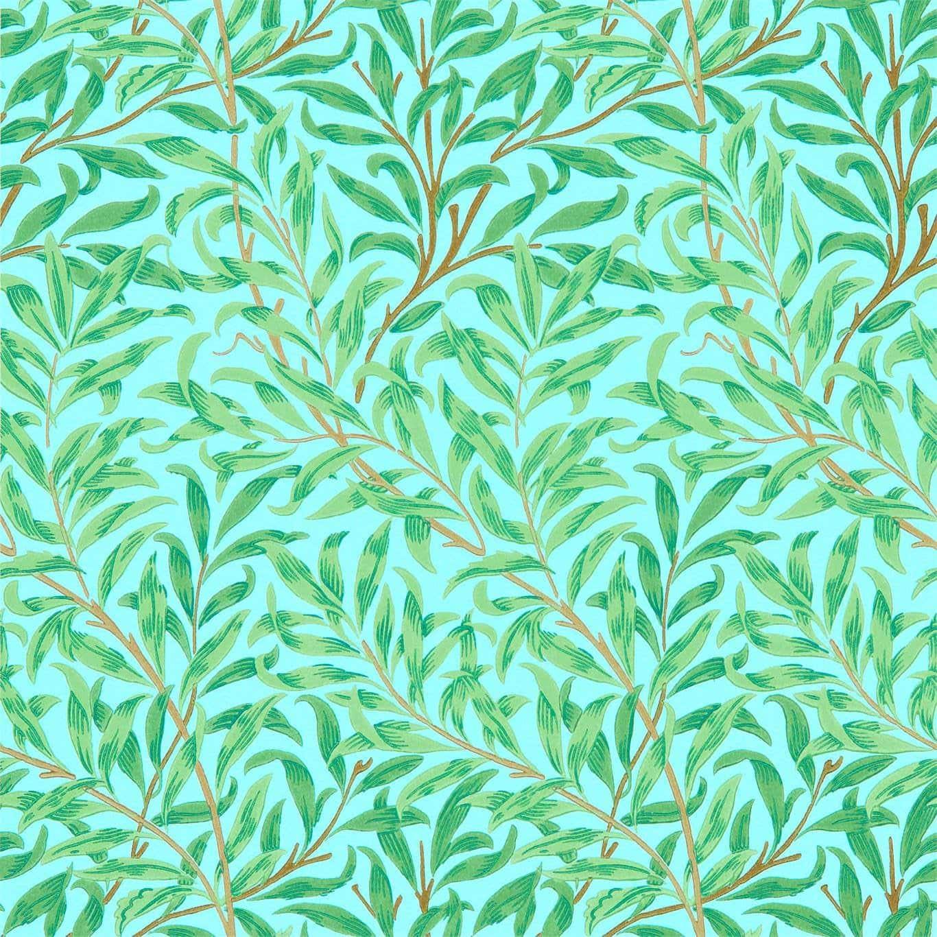 William Morris tapet Willow Bough Sky Leaf green