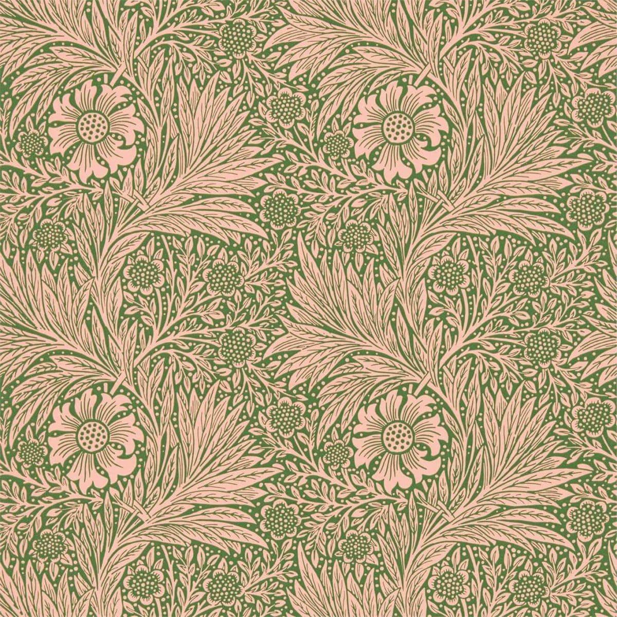 Morris & Co Tapet Marigold Pink / Olive