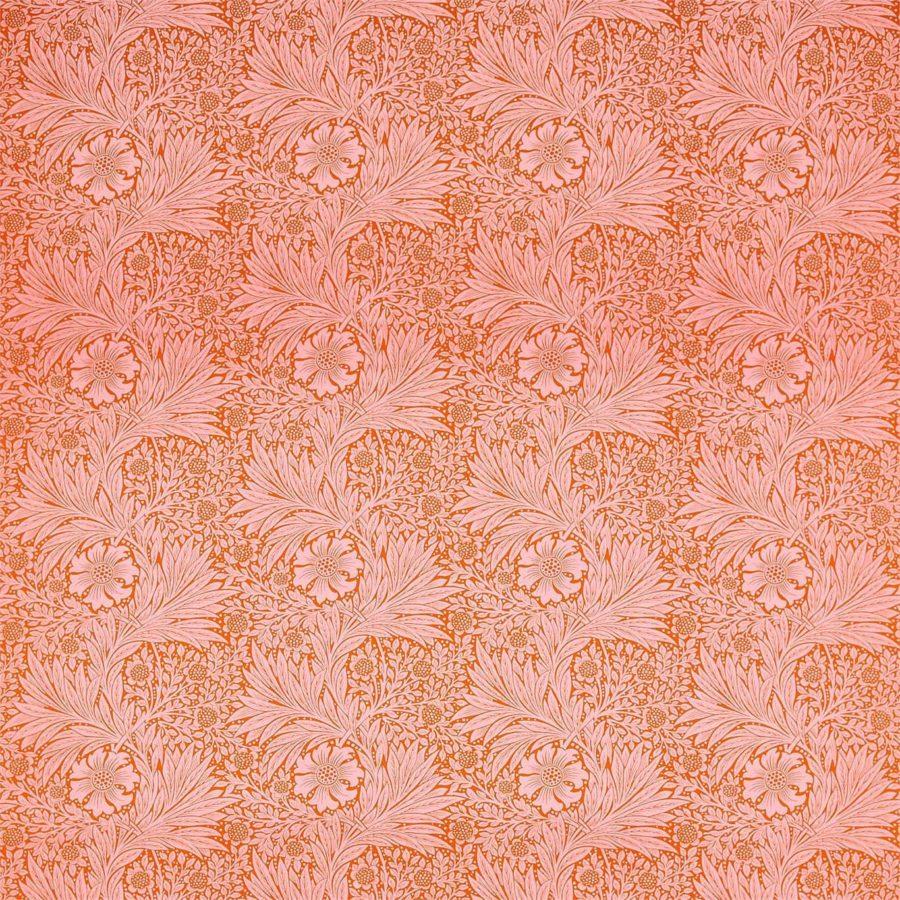 William Morris Tyg Marigold Orange Pink