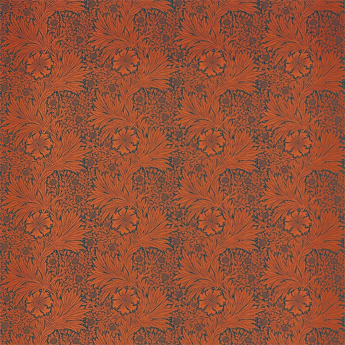 William Morris Tyg Marigold Navy / Burnt Orange