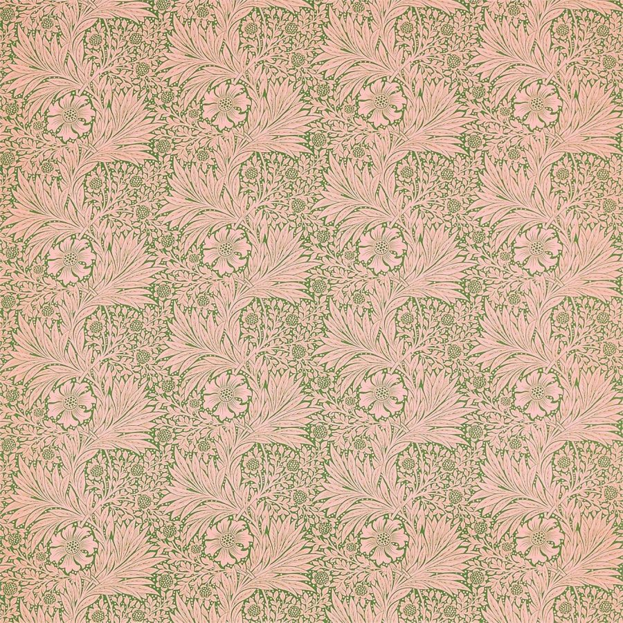 William Morris Tyg Marigold Olive / Pink
