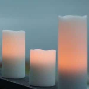 Endless Candles Blockljus/Vaxljus LED Batteriljus 2-pack Höjd 14,5 cm