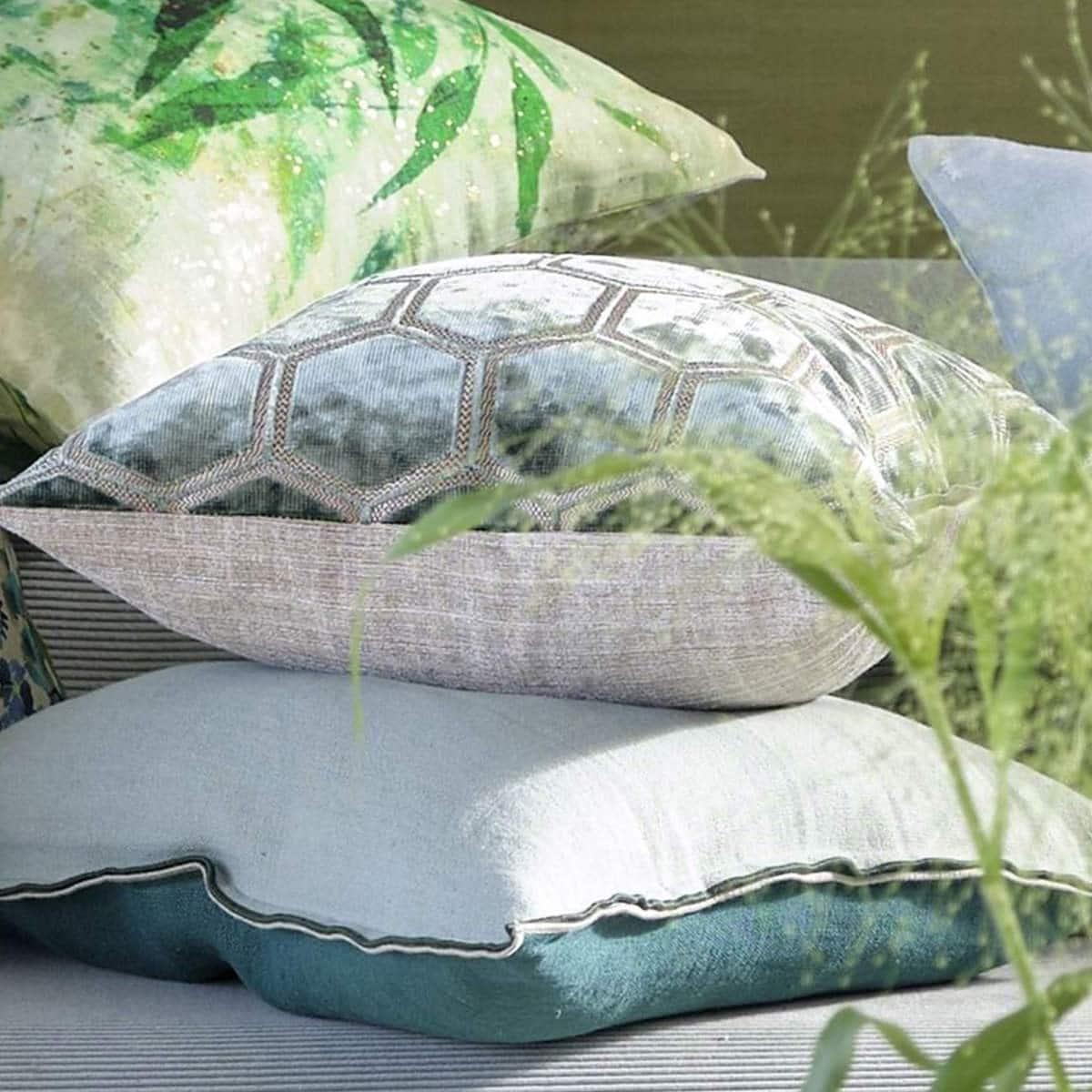 Designers Guild Kudde Manipur Silver Sammet