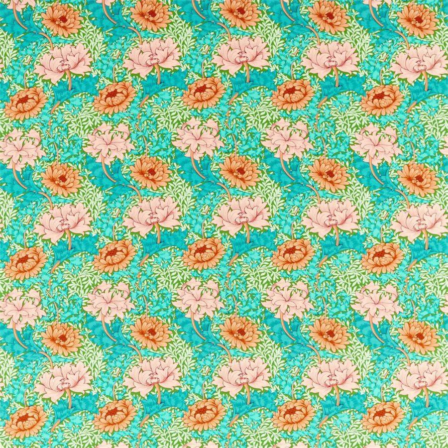 William Morris Tyg Chrysanthemum Summer