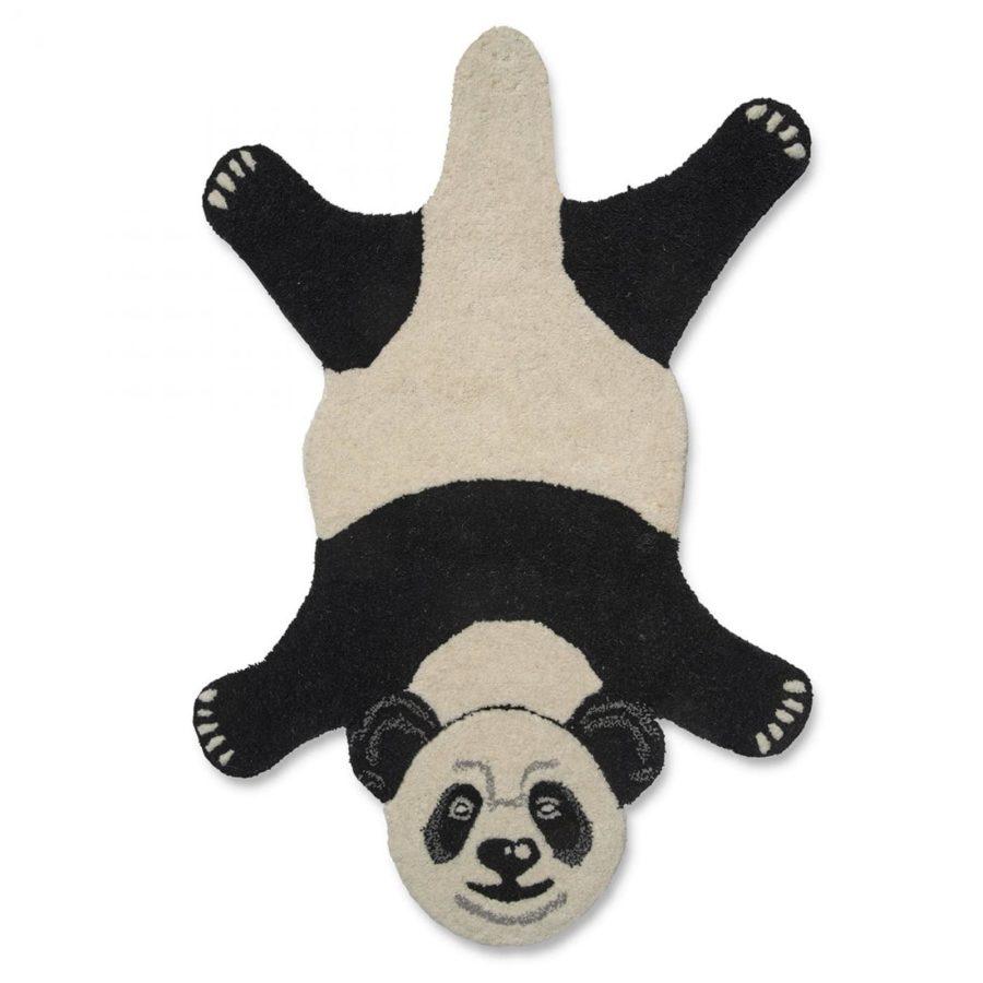 Classic Collection Barnmatta Panda vit svart barnrumsmatta