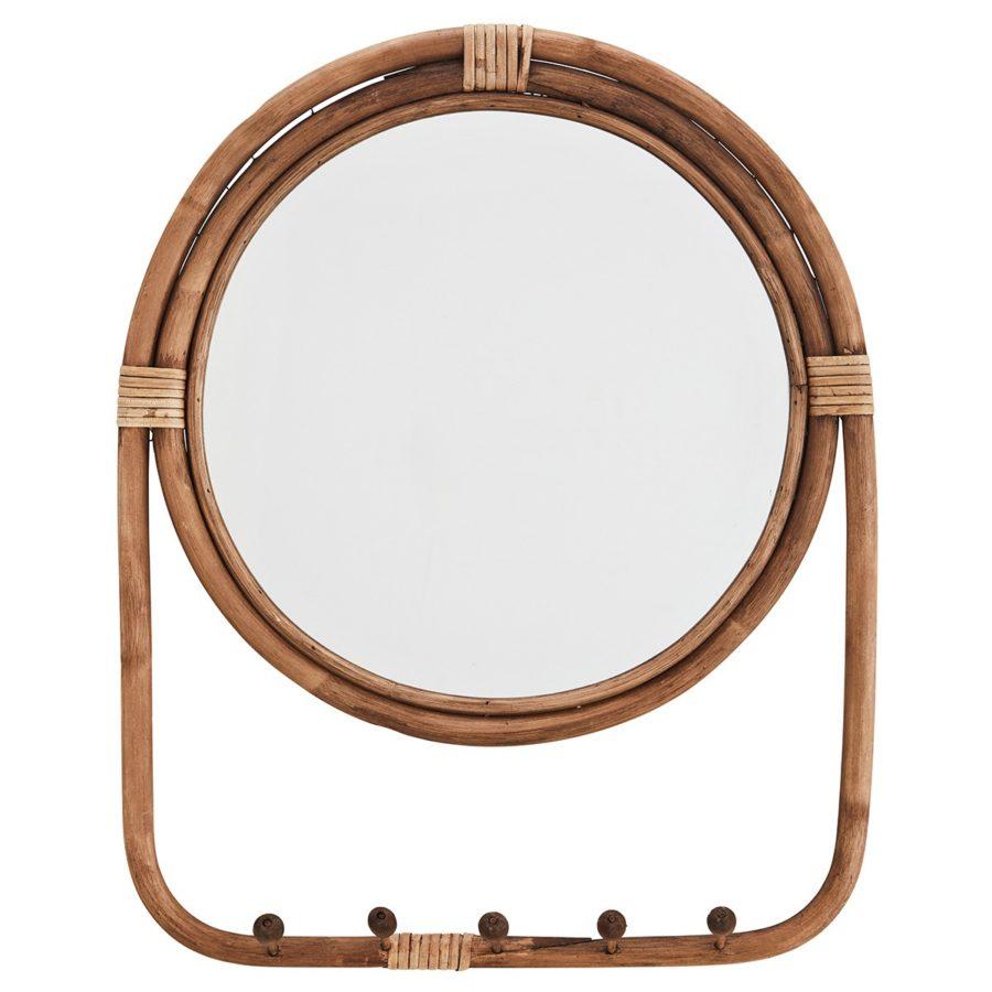Madam Stoltz rund spegel Rotting med hängare
