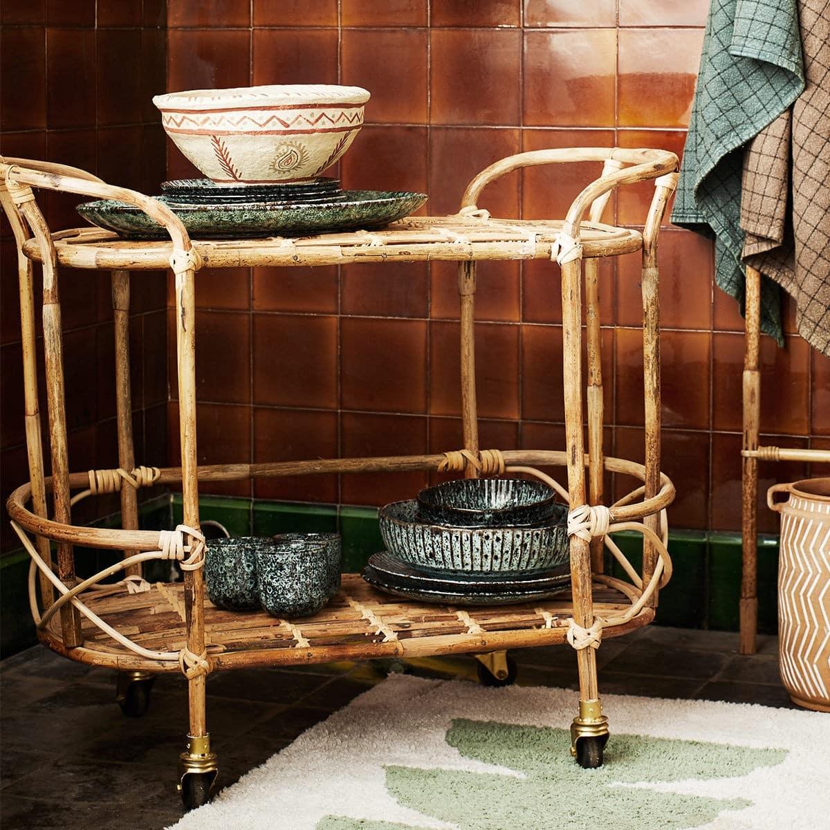 Madam Stoltz Trolley Bambu rullvagn